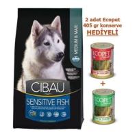 Cibau Balıklı Hassas Köpek Medium & Maxı Maması 2,5 Kg