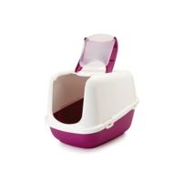 Savıc Nestor Jumbo Kapalı Kedı Tuvaletı Beyaz/Kırm