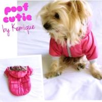 Pembe Poof Cutıe By Kemique Köpek Mont