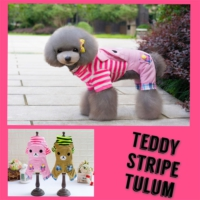 Teddy Stripe Tooloom By Kemique - Pembe