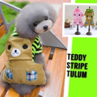 Teddy Stripe Tooloom By Kemique - Kahverengi