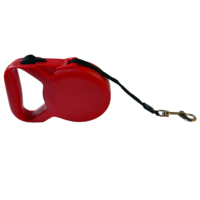 Dog Leash Otomatik Şerit Tasma Kırmızı 5m