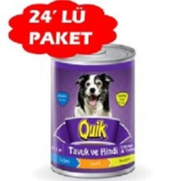 Quik Tavuk Hindi Konserve Köpek Mamasi 415 Gr (24 Adet)