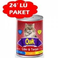 Quik Ciğer Tavşan Kedi Konservesi 415Gr 24 Adet