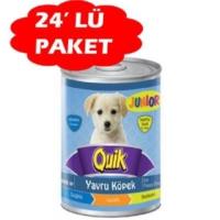 Quik Junior Tavuklu Yavru Köpek Konservesi 400 Gr (24 Adet)