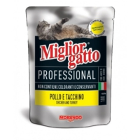 Miglior Gatto Professional Pouch Tavuk ve Hindili Yaş Kedi Maması 100gr