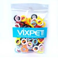 Vixpet Güvercin Ayak Halkası Renkli 100'lü Paket