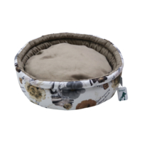 Smart Round (Yuvarlak) Kedi Yatağı Kahverengi Lilyum