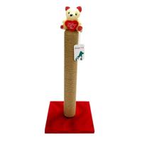 Smart Oyuncaklı Kedi Tırmalama Tahtası Kırmızı 40Cm