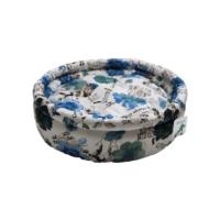 Smart Round (Yuvarlak) Kedi Yatağı Mavi Lilyum