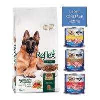Reflex 15 Kg Adult Dog Kuzu Etli & Pirinçli & Sebzeli Yetişkin Köpek Maması