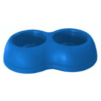 Lepus Kedi Köpek Plastik Mama Su Kabı 250+250ml Mavi