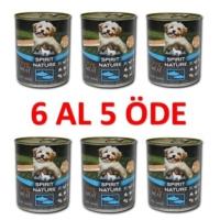Spirit Of Nature %75 Etli Tahılsız Balıklı Köpek Konservesi 415 Gr X 6 Adet