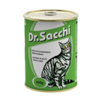 Dr.Sacchi Kedi Konserve Kuzu Etli 400 Gr