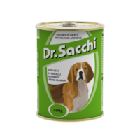 Dr.Sacchi Köpek Konserve Kuzu Etli Pirinçli 400 gr
