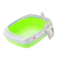 Lüx Açık Kedi Tuvalet Kabı Yeşil