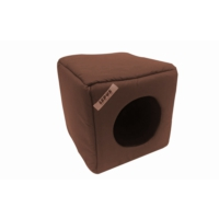 Lepus Sünger Kedi Köpek Küp Yatak 35*35 cm Kahverengi