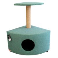Lepus Yuvalı Katlı Köşe Kedi Tırmalama Tahtası 40*60*75 cm