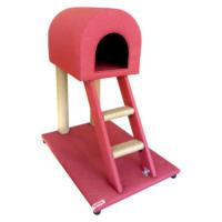 Lepus Merdivenli Katlı Kedi Tırmalama Oyun Alanı 50*70*85 cm