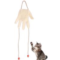 Agira El Şeklinde Peluş Kedi Oyuncağı Beyaz