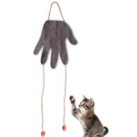 Agira El Şeklinde Peluş Kedi Oyuncağı Kahverengi