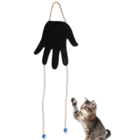 Agira El Şeklinde Peluş Kedi Oyuncağı Siyah