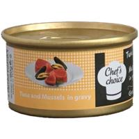 Chefs Choice Tuna And Mussels İn Gravy Soslu Ton Balığı Ve Midyeli Tahılsız Kedi Konservesi 80Gr.