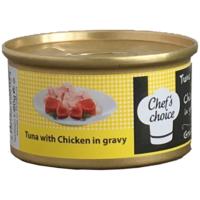 Chefs Choice Tuna And Chicken İn Gravy Soslu Ton Balığı Ve Tavuklu Tahılsız Kedi Konservesi 80Gr.