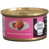 Chefs Choice Tuna And Shrimp İn Gravy Soslu Ton Balığı Ve Tavuklu Tahılsız Kedi Konservesi 80Gr.