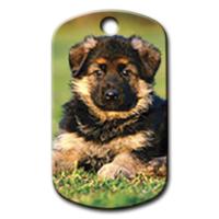 Dalis Pet Tag - Yavru Alman Kurdu Resimli Köpek Künyesi