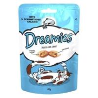 Dreamies İçi Dolgulu Somonlu Kitir Kedi Ödülü 60 Gr