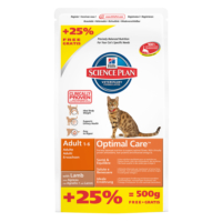 Hills Adult Lamb & Rice Kuzulu Ve Pirinçli Yetişkin Kedi Maması 2 Kg + 500 Gr Entegre Paket