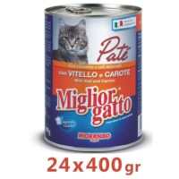 Miglior Gatto Dana Etli Ve Havuçlu Pate Kedi Konservesi 400 Gr (24 Adet)
