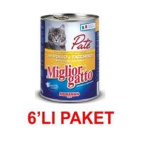 Miglior Gatto Tavuklu Hindili Pate Kedi Konservesi 400 Gr (6'li Paket)