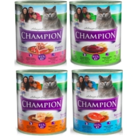 Champion 24 Adet Karışık Kedi Konservesi