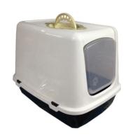 Pati Desenli Kapalı Kedi Tuvalet Kabı + Kum Küreği Hediyeli
