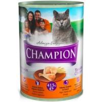 Champion 12 Adet Tavuklu Kedi Konservesi 415 Gr