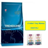 Trendline Somonlu Kedi Maması 15 Kg + Almo Nature Yaş Mama