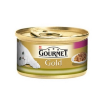 Gourmet Purina Gold Ciğerli Ve Tavşanlı Parça Etli - Çifte Lezzet 85 G Yaş Mama