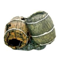Chicos Akvaryum İçin Dekoratif Bitkili Fıçı 13,5X8X9 Cm