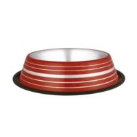 Oripet Renkli Desenli Çelik Köpek Mama Kabı 32 Oz