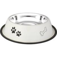 Oripet Pati-Kemik Desenli Çelik Kedi Ve Köpek Mama Kabı 16 Oz