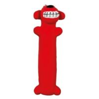 Latex Kırmızı Köpek Figürlü Köpek Oyuncağı 17 Cm
