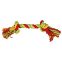 Çift Düğümlü İp Köpek Oyuncağı (Yeşil/Sarı) 30 Cm