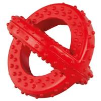 Lastik Sarmal Köpek Oyuncağı (Kırmızı) 10 Cm