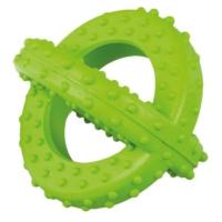 Lastik Sarmal Köpek Oyuncağı (Yeşil) 7,5 Cm