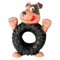 Vinil Köpek-Tekerlek Köpek Oyuncağı 13 Cm