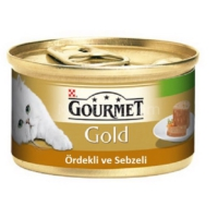 Purina Gourmet Gold Kıyılmış Ördekli Sebzeli Konserve Mama 85 Gr