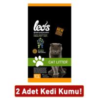 Leos Cat Litter Doğal Bentonit Kedi Kumu Kalın 10L 2 Paket