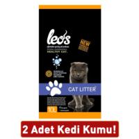 Leos Cat Litter Marsilya Sabunu Kokulu Bentonit Kalın Kedi Kumu 10 Lt x 2 Adet